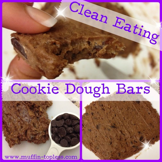 Muffin Topless Clean Eating Cookie Dough Bars