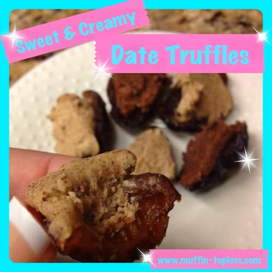 HEALTHY Sweet and Creamy Date Truffles