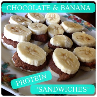 Healthy Chocolate & Banana Protein Sandwiches by MuffinTopless