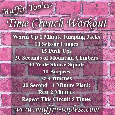 Muffin Topless Time Crunch Home Workout