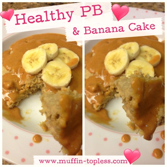 Healthy Peanut Butter and Banana Cake Recipe