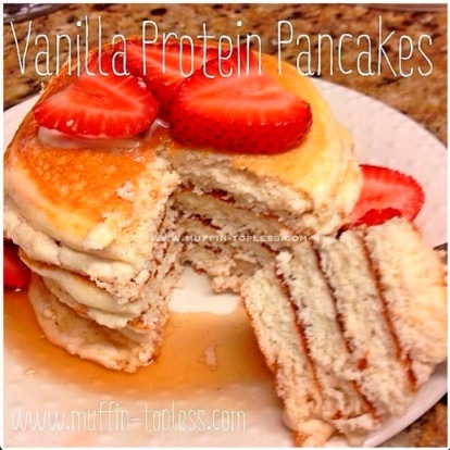 Delicious and Healthy Vanilla Protein Pancakes