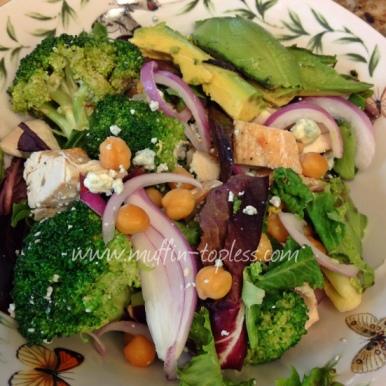 Healthy Avocado & Blue Cheese Chicken Salad Recipe