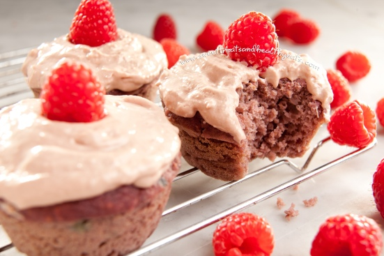 Raspberry Sponge Cupcakes by Sweet Treats and Healthy Eats
