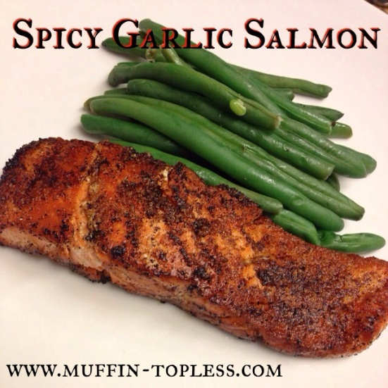 Spicy Garlic Salmon by Muffin Topless