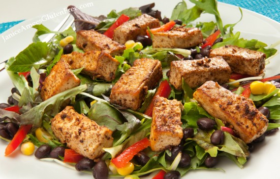 Ancho Tofu Salad by Janice Amee's Gluten Free