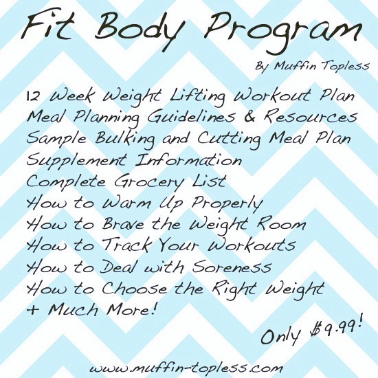 Weight Lifting Program for Women!